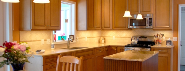 Maple Cabinets - Quartz Countertop « Maloney Contracting on Natural Maple Maple Cabinets With Quartz Countertops  id=46434