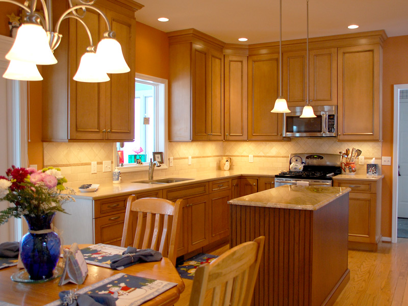 Maple Cabinets Quartz Countertop Maloney Contracting