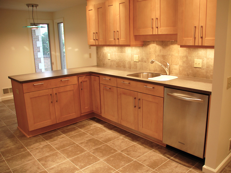 Maple Cabinets Solid Surface