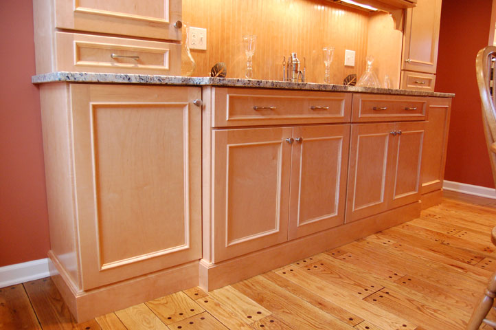 Maple cabinets granite countertops maloney contracting for Maple slab countertop